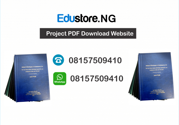 Project Topics and Materials PDF & DOC Download
