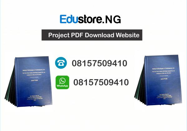 Project Topics and Materials PDF & DOC Download, Economics Project Topics, Physiology Project Topics
